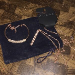 Rose Gold Necklace and matching bracelet